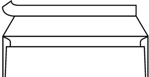 Envelop C5/6 114x229mm venster rechts strip wit 500st