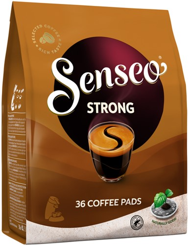 Koffiepads Douwe Egberts Senseo strong 36 stuks