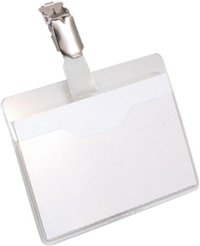 Badge Durable 8106 met clip liggend open 60x90mm