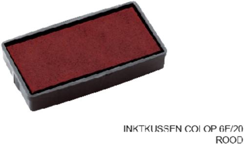 Stempelkussen Colop 6E/20 rood