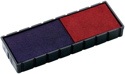 Stempelkussen Colop 6E/12 rood blauw