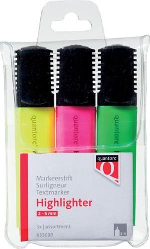 Markeerstift Quantore assorti etui à 3 kleuren
