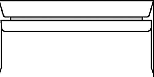 Envelop bank 114x229mm gegomd wit 500stuks