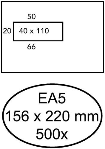 Envelop Quantore 156x220mm venster 4x11cm links zelfkl 500st