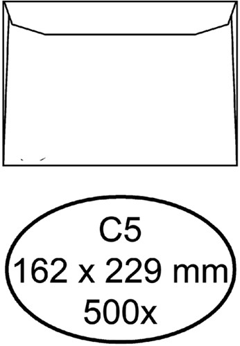 Envelop Hermes bank C5 162x229mm wit 500stuks