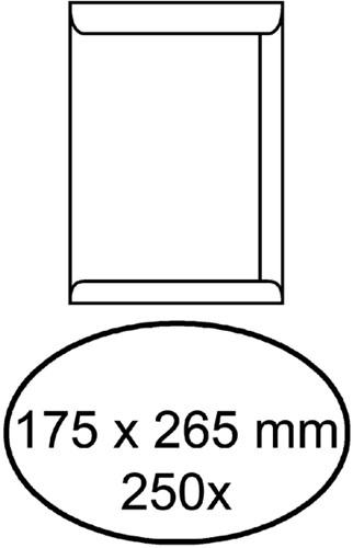 Envelop akte 175x265mm zelfklevend 100gr wit 250stuks