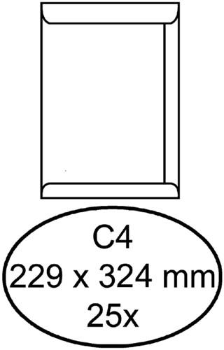 Envelop Hermes akte C4 229x324mm wit 25stuks