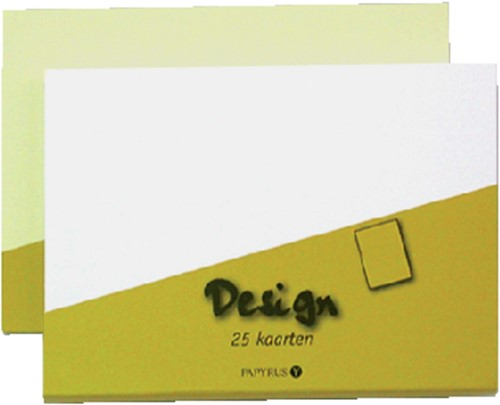 Dubbele kaarten Papyrus 105x148mm wit