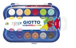 Gouache Giotto 23mm doos à 24 kleuren met penseel