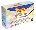 Plakkaatverf Jovi glitter 55ml set à 6 kleuren ass