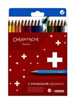 Kleurpotloden Caran D'ache  Swisscolor Aquarel kartonnen doos à 18stuks