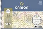 Aquarelblok Canson 12.5x18cm 12V 300gr fijn spiraal