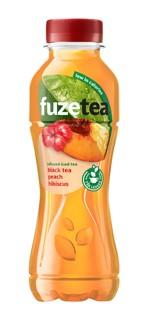 Frisdrank Fuze Tea peach hibiscus 400ml
