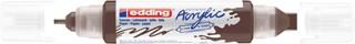 Acrylmarker edding e-5400 3D double liner chocoladebruin
