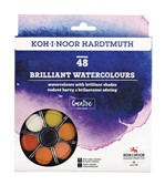 Waterverf Koh-i-Noor briljant ass blister à 48 kleuren