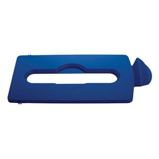 Afvaldeksel Slim Jim Recyclestation blauw voor papier