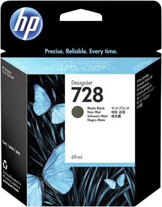 Inktcartridge HP F9J64A 728 mat zwart