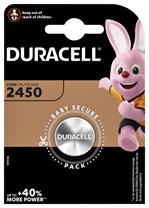 Batterij Duracell knoopcel 1xCR2450 lithium Ø24mm 3V-540mAh