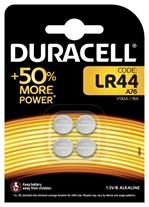 Batterij Duracell knoopcel 4xLR44 alkaline Ø11,6mm