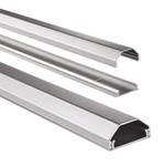 Kabelkanaal Hama hoekig 110/3,3/1,7 cm aluminium zilver