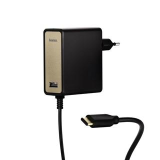 Adapter Hama USB-C notebook 60W zwart