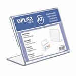 Kaarthouder OPUS 2 L-standaard A7 staand acryl