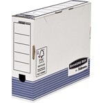 Archiefdoos Bankers Box System A4 80mm wit blauw