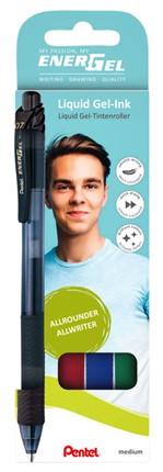 Gelschrijver Pentel Energel-X BL107 0.4mm assorti