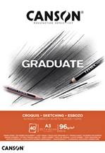Schetsboek Canson Graduate Croquis A3 96gr 40vel