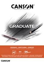 Schetsboek Canson Graduate Croquis A4 96gr 40vel