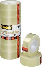 Plakband Scotch 550 19mmx33m transparant