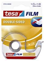 Dubbelzijdige plakband Tesa film 12mmx7.5m met dispenser