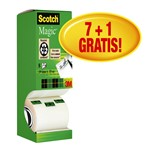Onzichtbaar plakband Scotch Magic 810 19mmx33m 7+1 gratis
