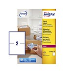 Etiket Avery L7168B 199.6x143.57mm blockout 200stuks