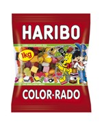 Haribo Color-Rado wine gum + Engelse drop 1kg