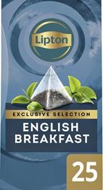 Thee Lipton Exclusive English Breakfast 25 piramidezakjes