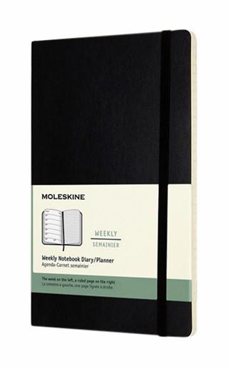 Agenda 2021  Moleskine 12mnd large soft zwart