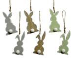 Hanger konijn met pompom