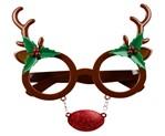 Kerstbril rendier Rudolph