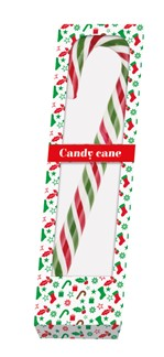 Kerststok candy cane 100gr rood/wit/groen