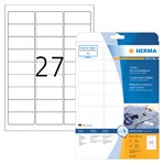 Naambadge etiket Herma 4511 63.5x29.6mm wit
