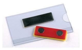 Badge Opus 2 magnetisch 75x40mm