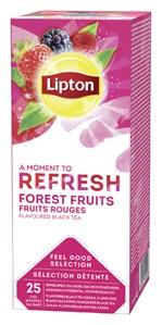 Thee Lipton Refresh Bosvruchten 25stuks