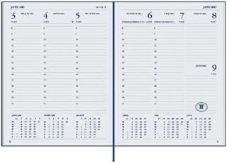 Agenda 2022 Ryam weekplan plus 7dag/2pagina's bordeaux