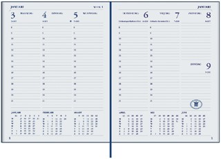 Agenda 2022 Ryam weekplan plus 7dag/2pagina's zwart