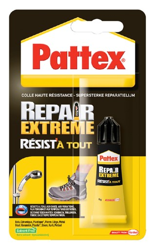 Alleslijm Pattex Repair Extreme tube 8gram op blister