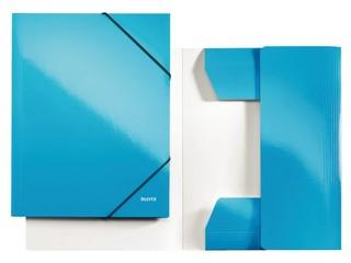 3-klepsmap Leitz WOW A4 karton blauw
