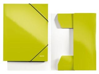3-klepsmap Leitz WOW A4 karton groen