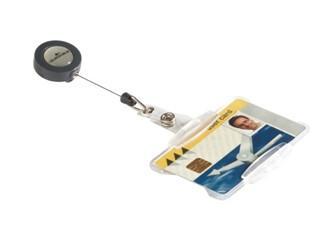 Afrolmechanisme Durable 8011 54x85mm met open pashouder