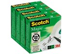 Onzichtbaar plakband Scotch Magic 810 19mmx33m 4 rollen